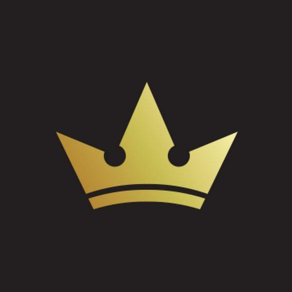 gold crown illustration against black background